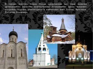 В городах Золотого Кольца России представлены все этапы развития древнерусско
