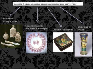 Золотое Кольцо славится шедеврами народного искусства. Резьба по дереву и ко