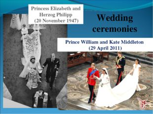 Wedding ceremonies Princess Elizabeth and Herzog Philipp (20 November 1947) P