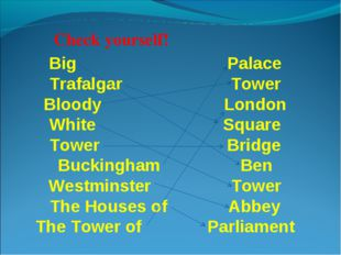 Big Palace Trafalgar Tower Bloody London White Square Tower Bridge Buckingham