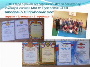 С 2011 года в районных соревнованиях по баскетболу командой юношей МКОУ Пузев