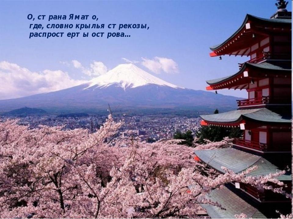 О, страна Ямато, где, словно крылья стрекозы, распростерты острова…