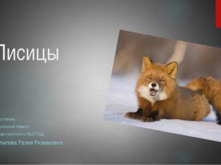 Лисицы подготовила: Социальный педагог Северо-восточного МЦСПСД Латыпова Рали