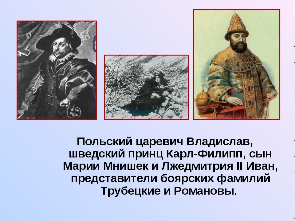 Польский царевич Владислав, шведский принц Карл-Филипп, сын Марии Мнишек и Л...
