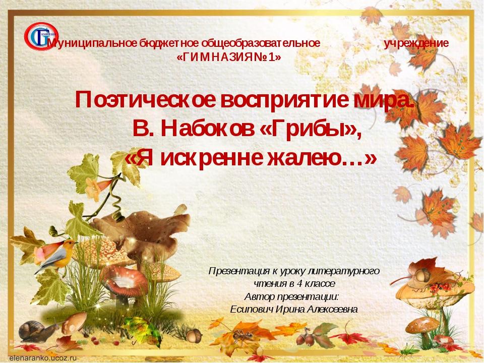 Презентация к уроку литературного чтения в 4 классе Автор презентации: Есипов...