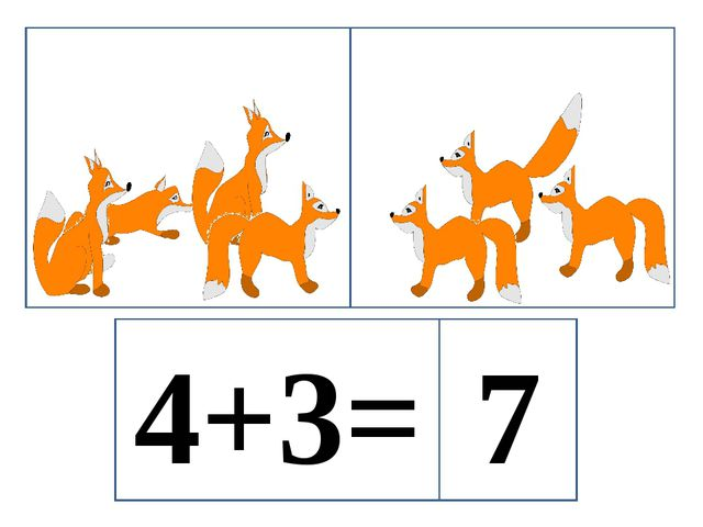 4+3= 7