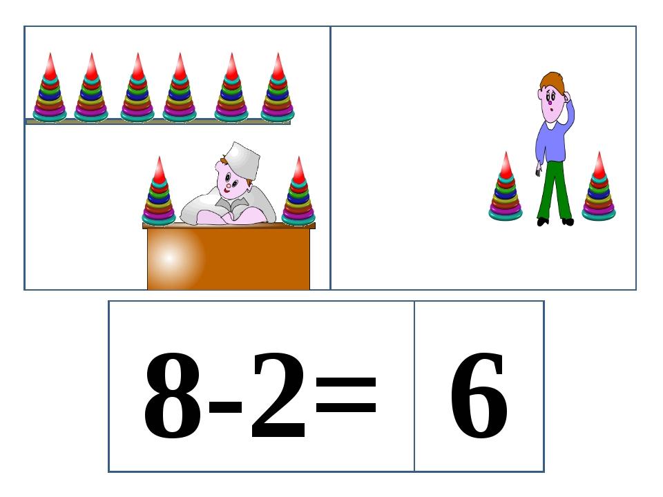8-2= 6