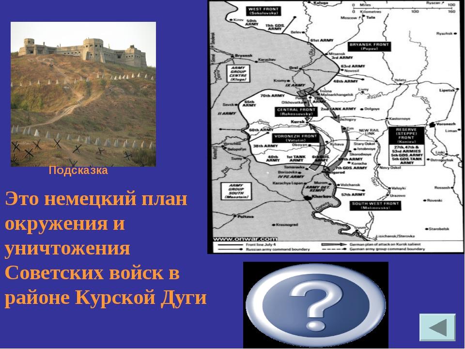 Это немецкий план окружения и уничтожения Советских войск в районе Курской Ду...