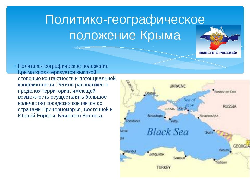 Политико-географическое положение Крыма Политико-географическое положение Кры...