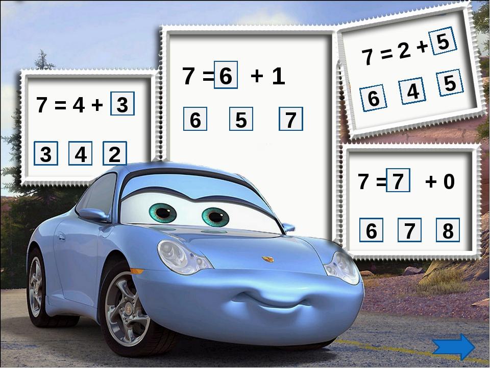 7 = 4 + 3 2 4 3 7 = 2 + 7 = + 0 7 = + 1 5 6 8 7 6 7 5 5 4 6 7 6