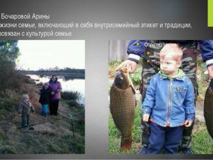 Семья Бочаровой Арины Стиль жизни семьи, включающий в себя внутрисемейный эти
