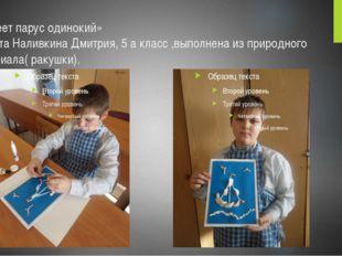 «Белеет парус одинокий» Работа Наливкина Дмитрия, 5 а класс ,выполнена из при