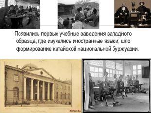 Появились первые учебные заведения западного образца, где изучались иностран