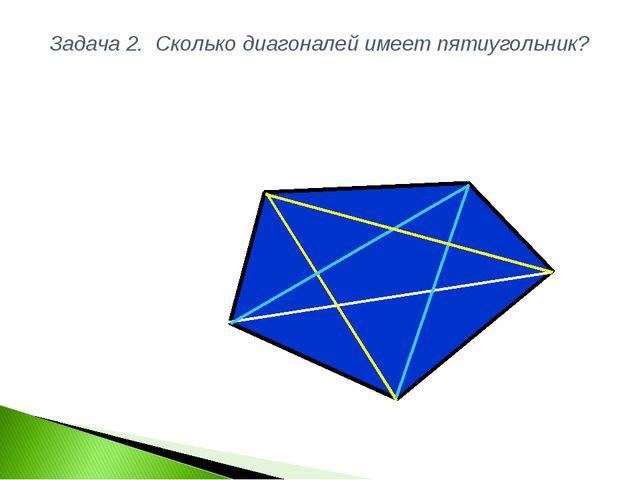 Задача 2. Сколько диагоналей имеет пятиугольник?