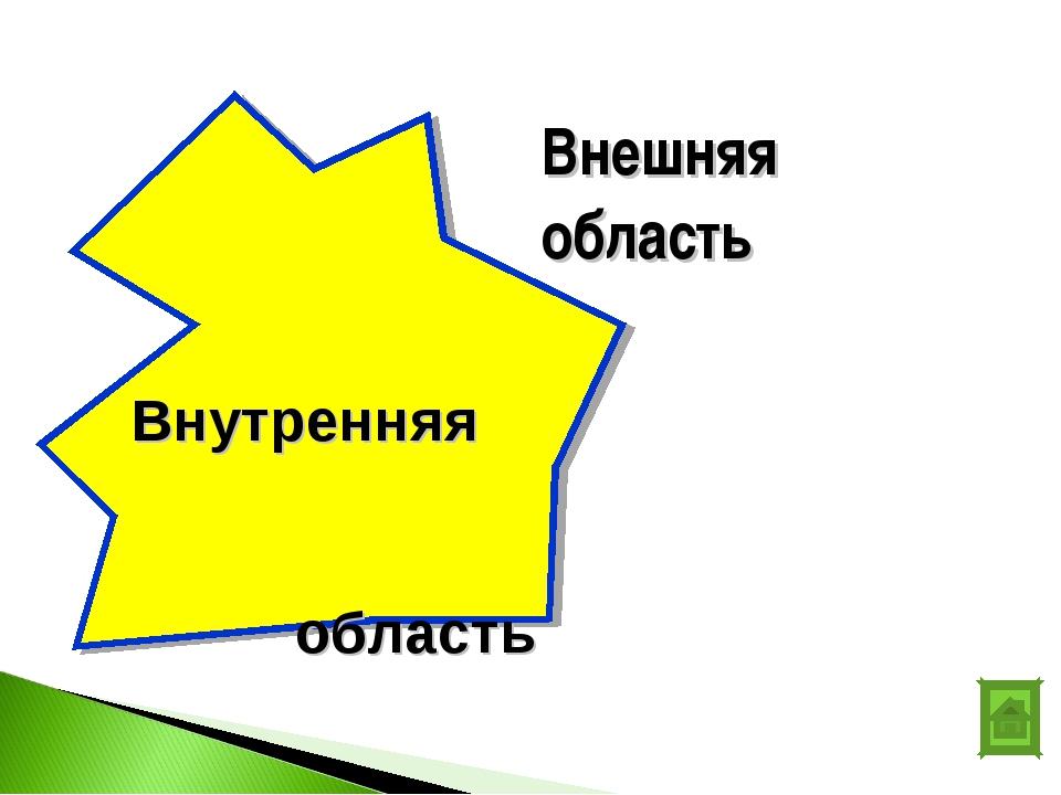 Внешняя область Внутренняя область