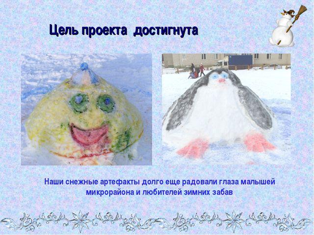 Цель проекта достигнута Наши снежные артефакты долго еще радовали глаза малыш...