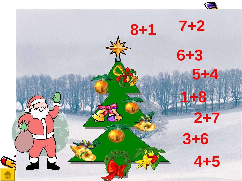 7+2 1+8 8+1 6+3 5+4 4+5 2+7 3+6