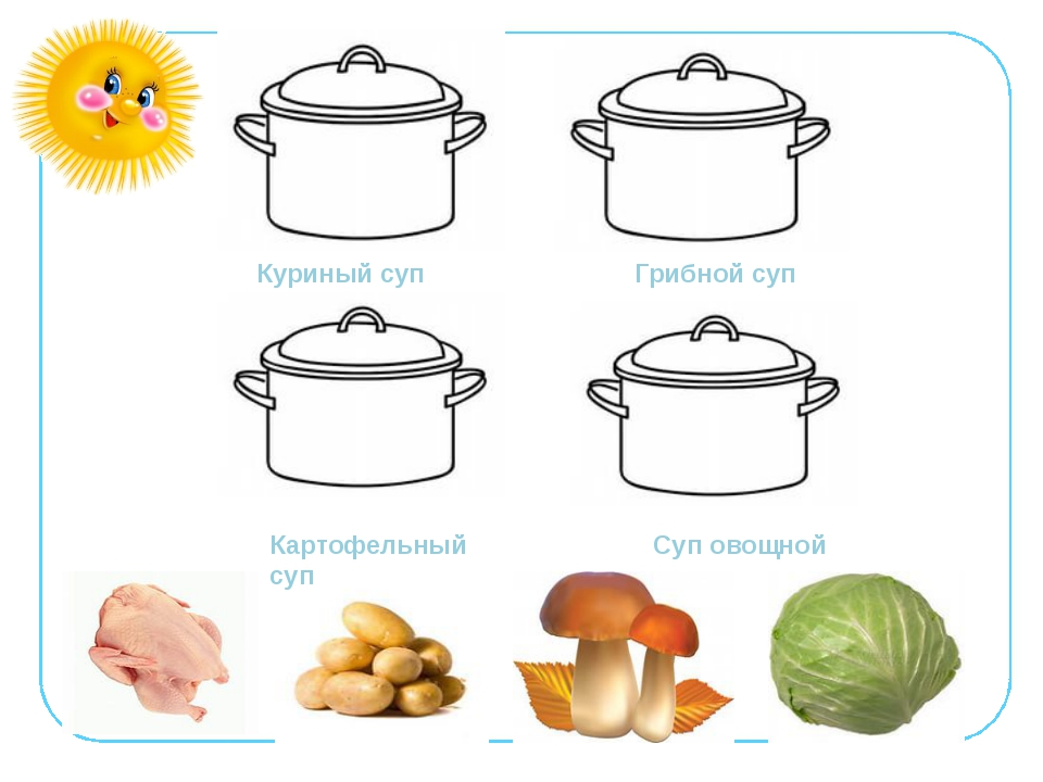 Куриный суп Грибной суп Картофельный суп Суп овощной