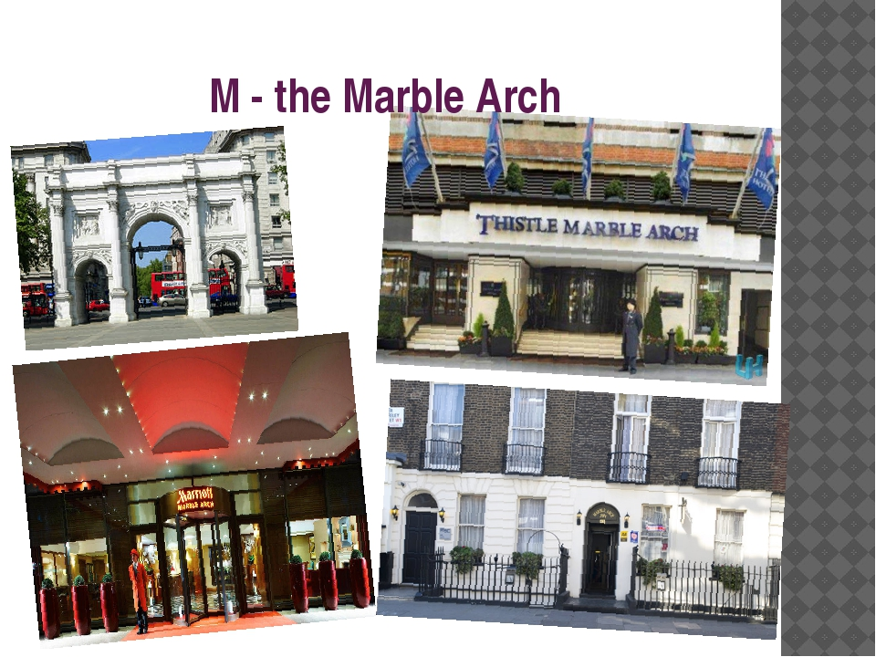 M - the Marble Arch