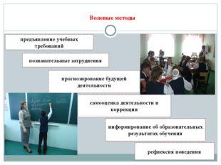 Волевые методы предъявление учебных требований информирование об образовател