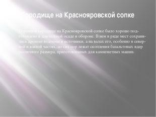 Городище на Краснояровской сопке Огромное городище на Краснояровской сопке бы