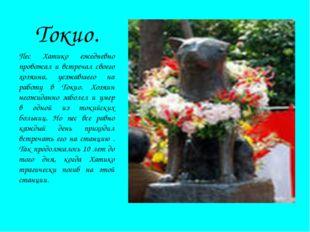 Токио. Пес Хатико ежедневно провожал и встречал своего хозяина, уезжавшего на