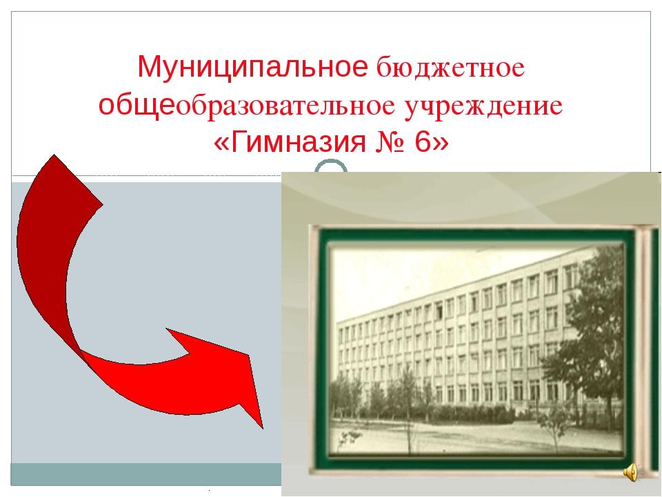 Муниципальное бюджетное общеобразовательное учреждение «Гимназия № 6»