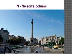 N - Nelson's column