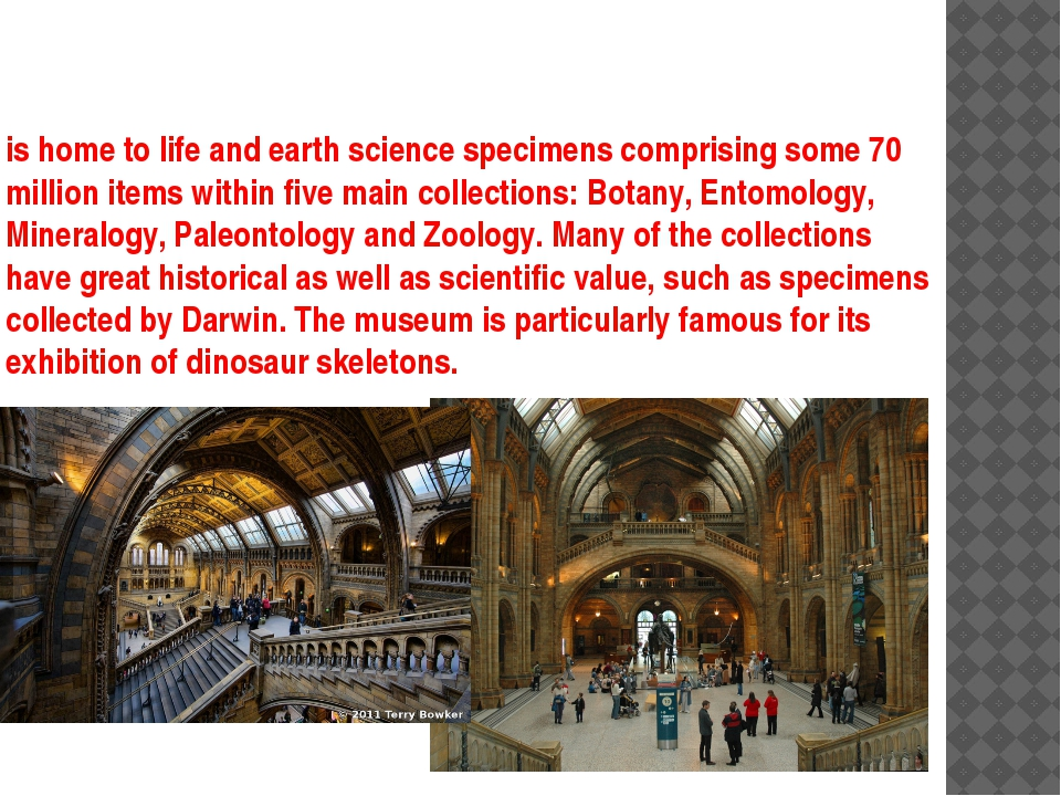 is home to life and earth science specimens comprising some 70 million items...