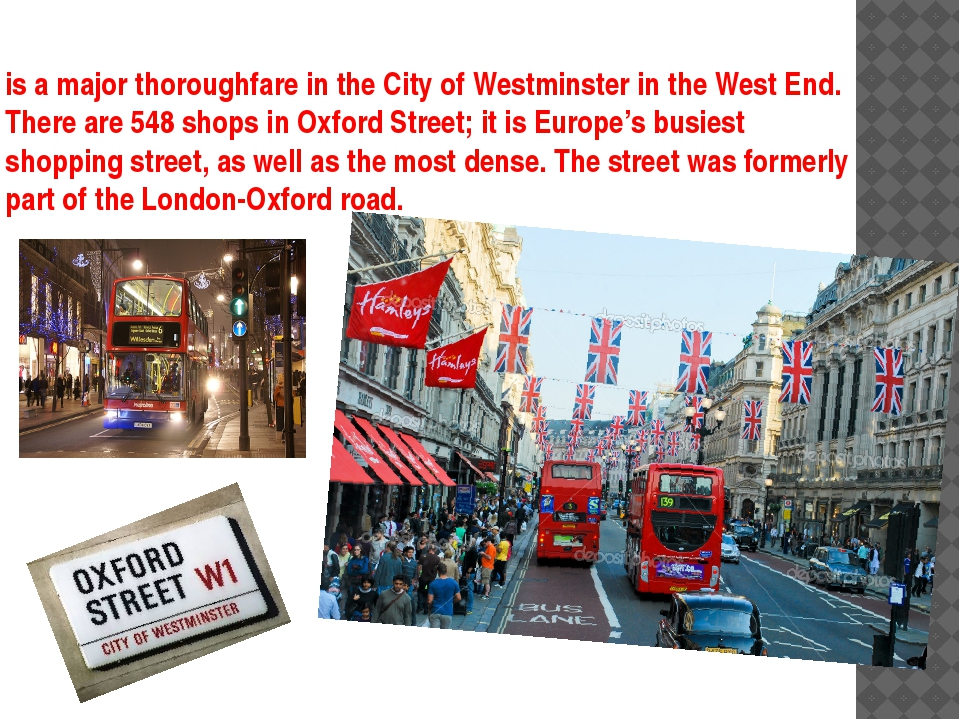 is a major thoroughfare in the City of Westminster in the West End. There are...