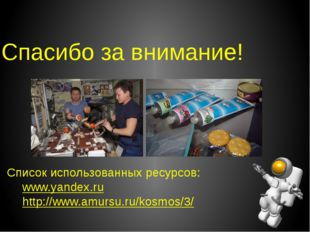 Спасибо за внимание! Список использованных ресурсов: www.yandex.ru http://www