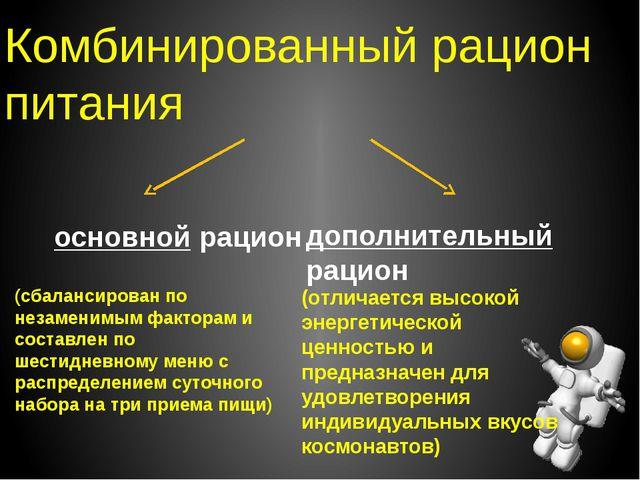 Комбинированный рацион питания основной рацион дополнительный рацион (сбаланс...