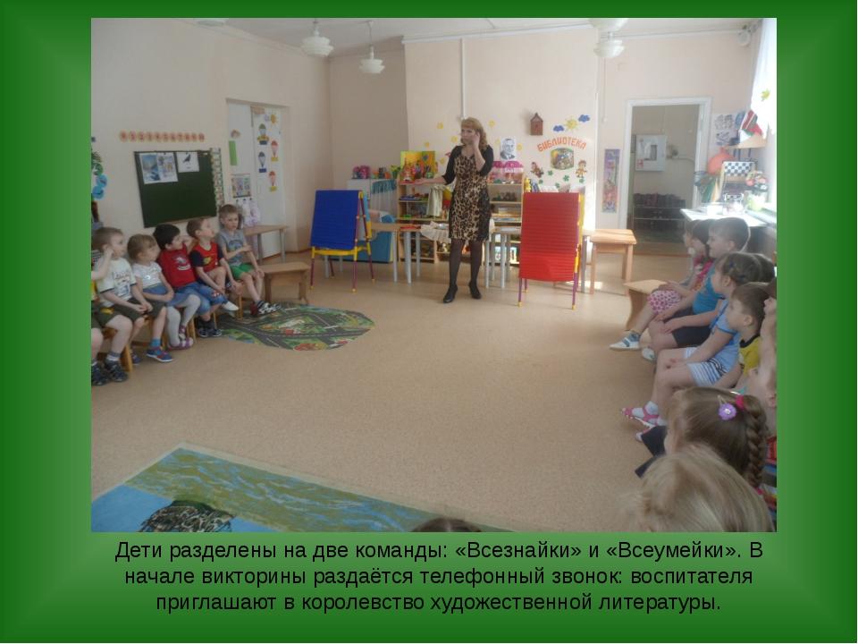 Дети разделены на две команды: «Всезнайки» и «Всеумейки». В начале викторины...