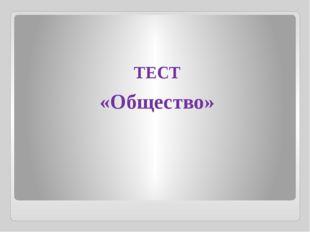 ТЕСТ «Общество»
