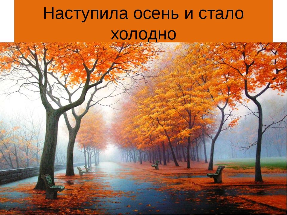 Наступила осень и стало холодно