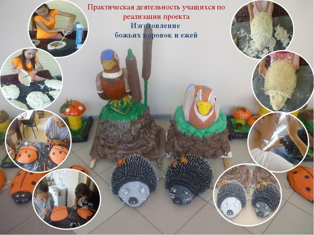Практическая деятельность учащихся по реализации проекта Изготовление божьих...
