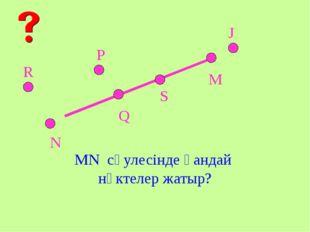 M N S Q P J R MN сәулесінде қандай нүктелер жатыр?