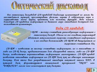 Без оптических дисководов (СD-приводов) владельцы компьютеров не могли бы на
