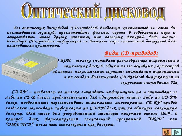 Без оптических дисководов (СD-приводов) владельцы компьютеров не могли бы на...