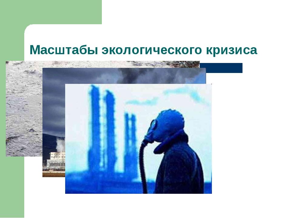 Масштабы экологического кризиса