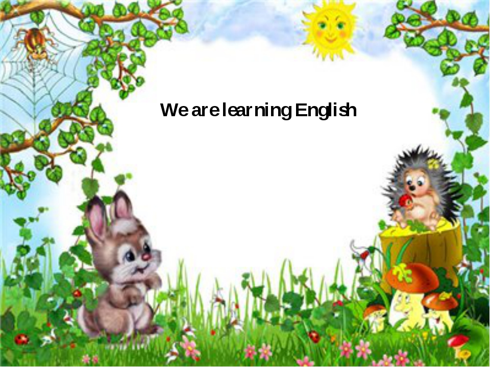 We are learning English