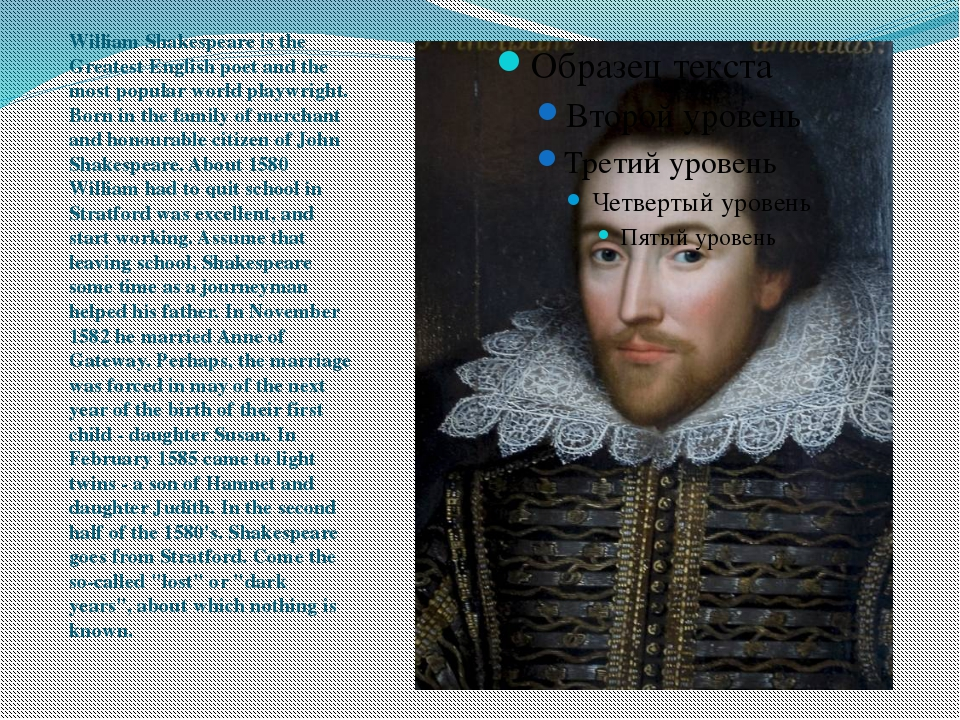 William Shakespeare is the Greatest English poet and the most popular world...