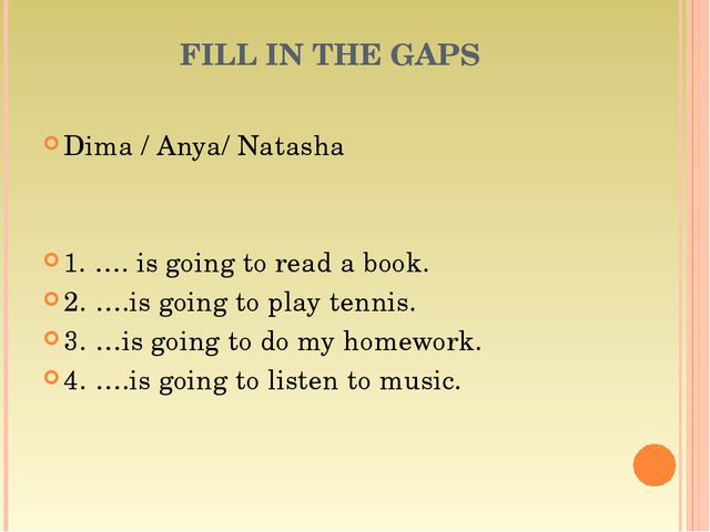 Dima / Anya/ Natasha