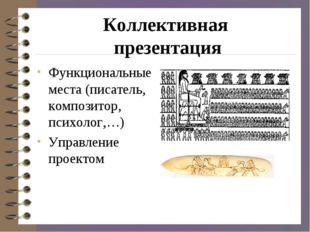 Коллективная презентация Функциональные места (писатель, композитор, психолог