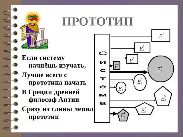 ПРОТОТИП Если систему начнёшь изучать, Лучше всего с прототипа начать В Греци...
