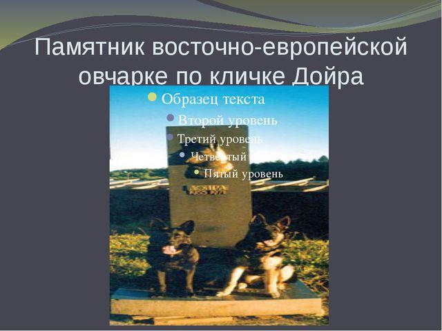 Памятник восточно-европейской овчарке по кличке Дойра