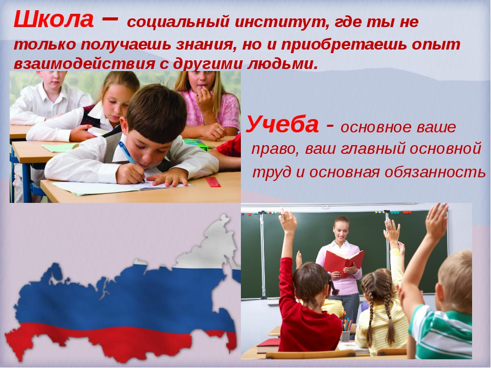 Школа – социальный институт, где ты не только получаешь знания, но и приобрет...