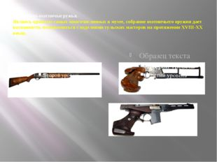 Спортивно-охотничьи ружья. Являясь одним из самых многочисленных в музее, соб