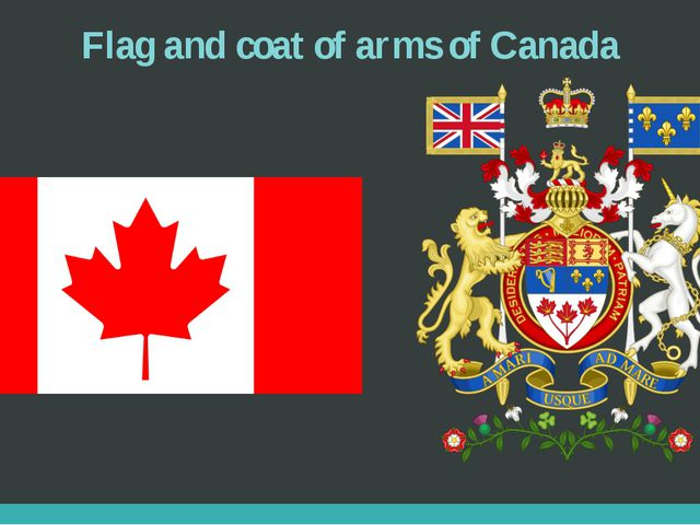Flag and coat of arms of Canada