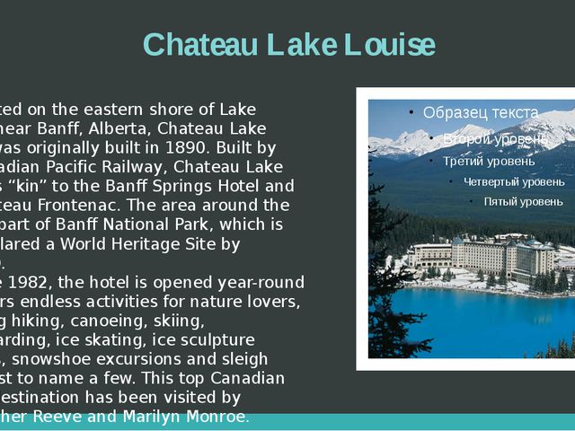 Chateau Lake Louise Located on the eastern shore of Lake Louise, near Banff,...